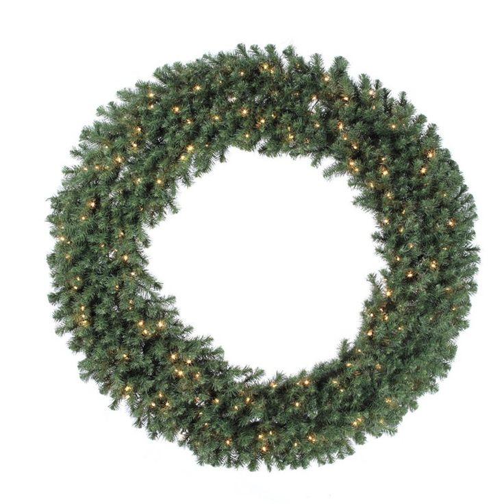 100 in. Douglas Fir Pre-lit Christmas Wreath - A808890