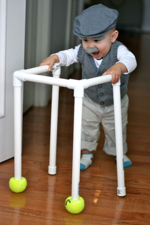 Old man toddler costume- omg @mrsctinsley2011 Holden needs to do this baby Einstein and all!! Lol would be HILARIOUS!!