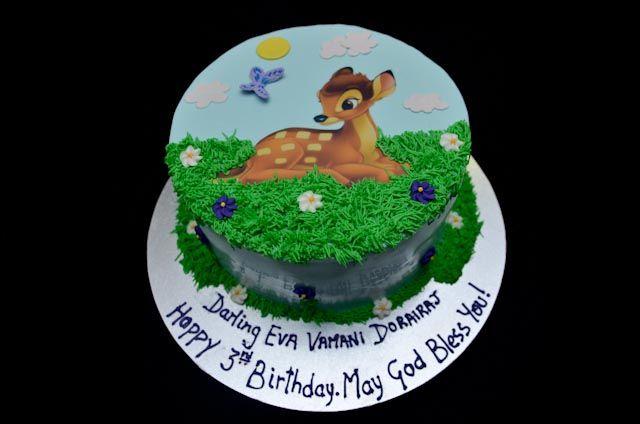 Bambi Birthday Cake  www.cakesbyrose.com.au