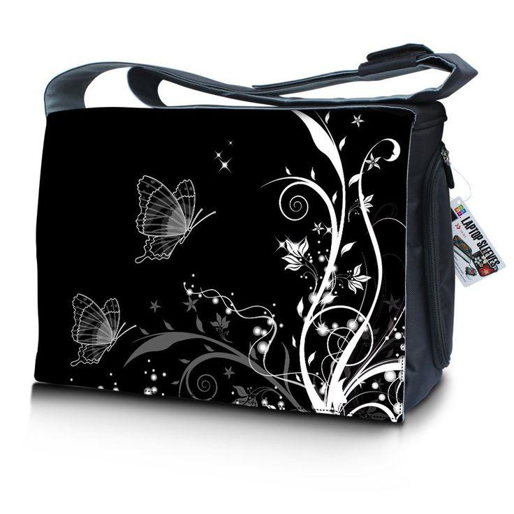 """17""""- 17.6"""" (inch) Laptop Messenger Bag Notebook Shoulder Bag BLACK2B  Best Price:- £19.99"""