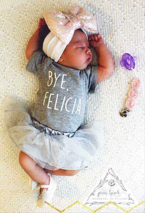 BYE FELICIA baby Onesie® one piece creeper / Funny Onesie® / Edgy Onesie® / Baby Shower Gift / Newborn Onesie® / Custom Onesie®