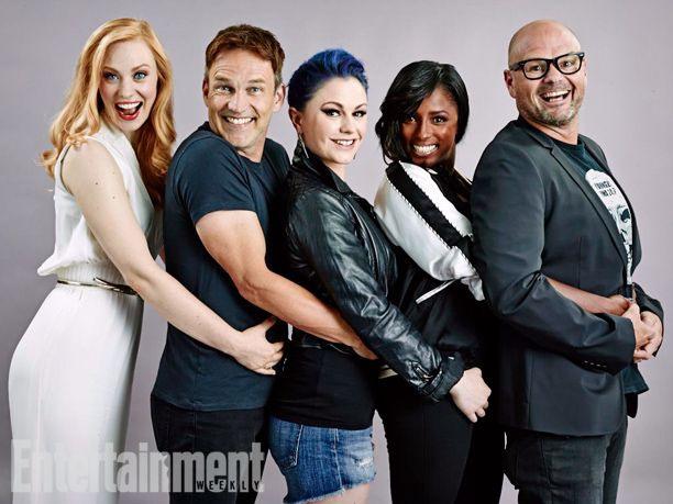 Deborah Ann Woll, Stephen Moyer, Anna Paquin, Rutina Wesley, and Chris Bauer, True Blood. See more stunning star portraits from our photo studio at San Diego Comic-Con 2014 here: http://www.ew.com/ew/gallery/0,,20399642_20837151,00.html
