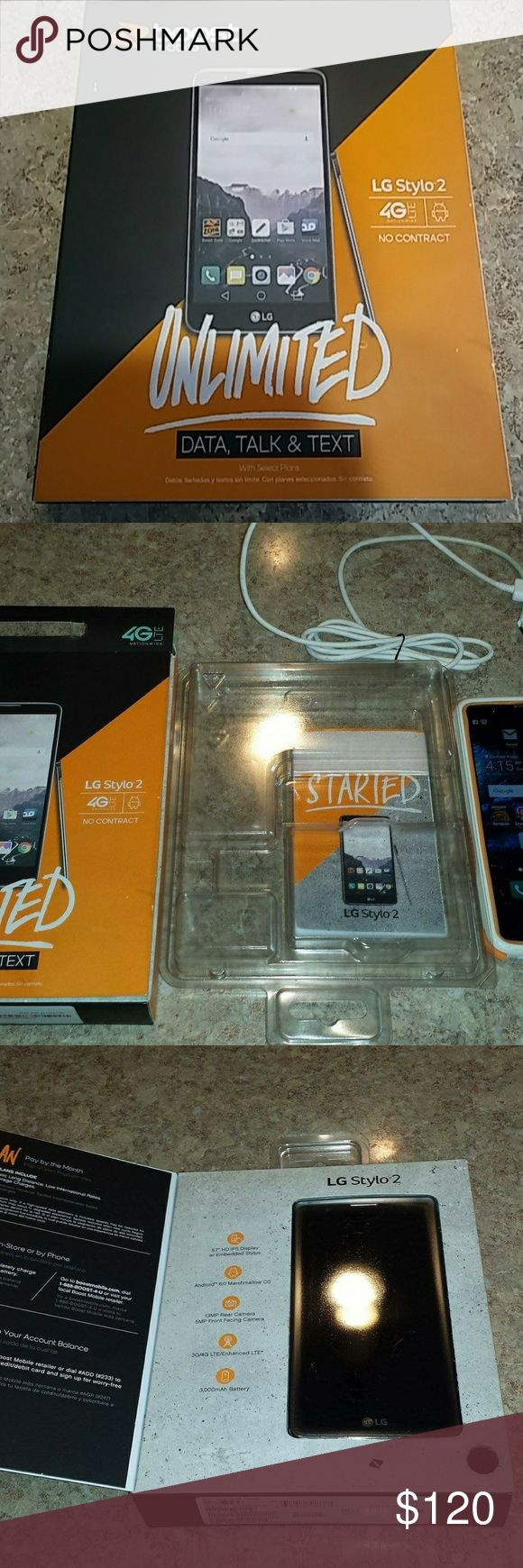 Boost Mobile LG Stylo 2 4G LTE Used like new only owned it for a couple of months. Has eveything, pen,and the original box. LG Other