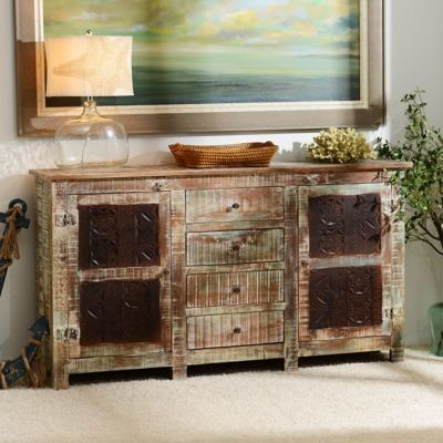 This rugged  timeworn Rustic Carved Panel Cabinet adds a coastal feel to  any home. 83 best Coastal Cottage images on Pinterest   Coastal cottage