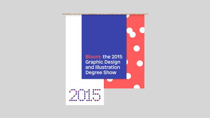 Moving Studio - Branding and motion graphics specialists. De Montfort University 2015 Degree Show Identity | Bloom