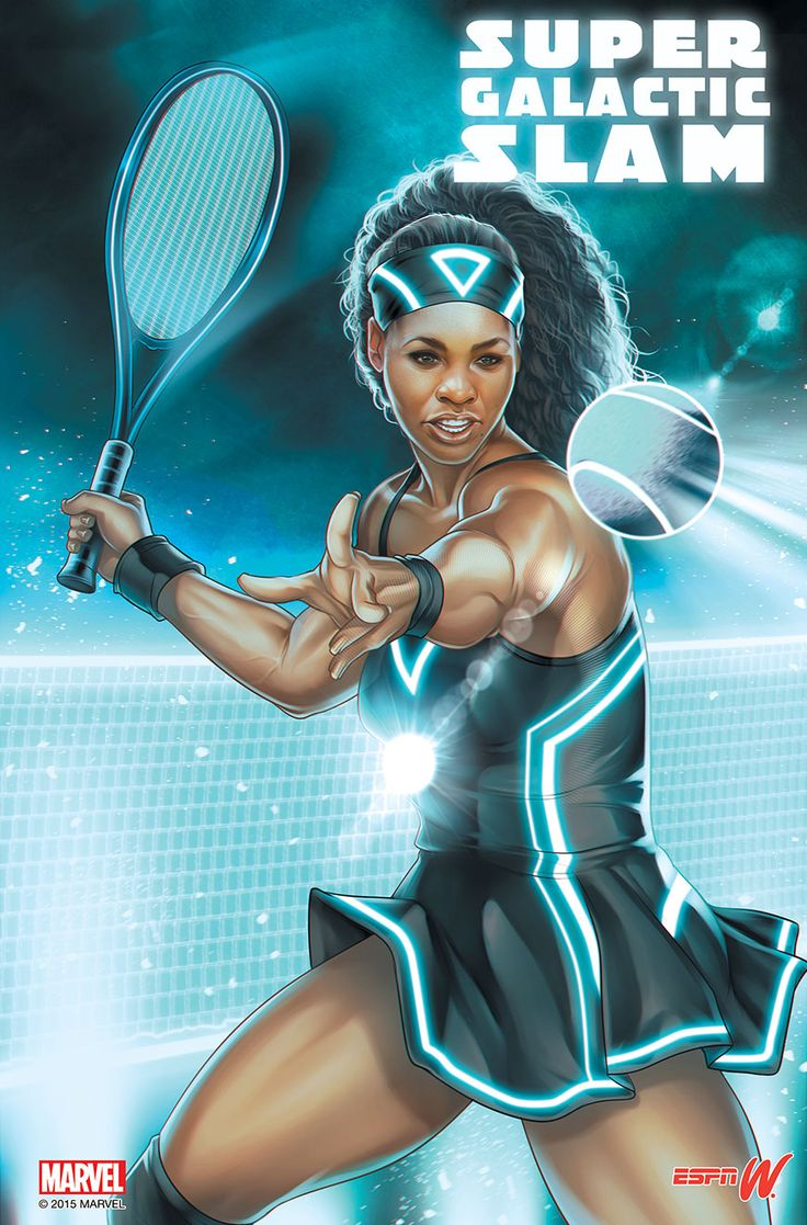 What Serena Williams Looks Like As A Superhero In The Marvel Universe. Fans will remember the tennis phenom was 53-3 this year, so the nickname is pretty fitting. <3 #SuperGalacticSlam 12/8/15