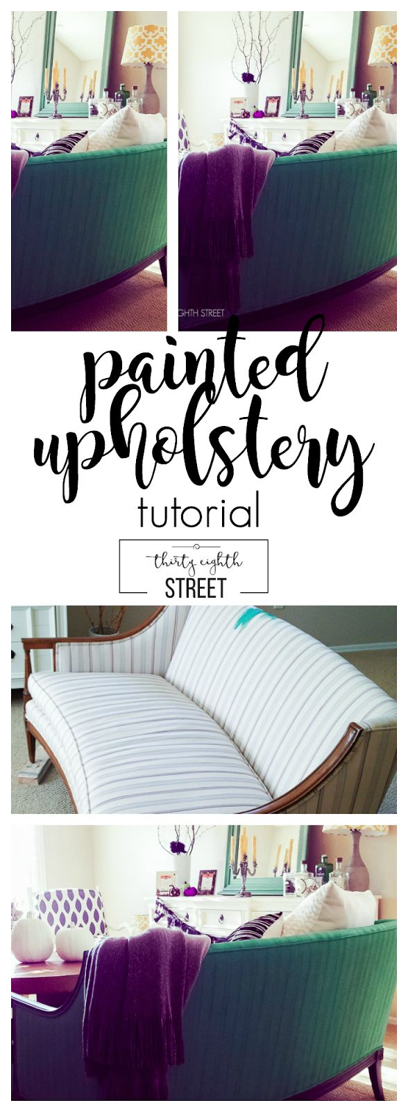 How To Paint Upholstery Fabric With Chalk Paint®. Learn How To Paint That Thrift…