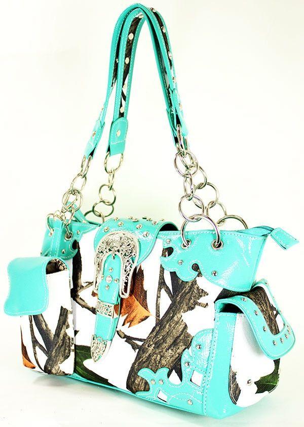 Snow Camo Neon Handbag