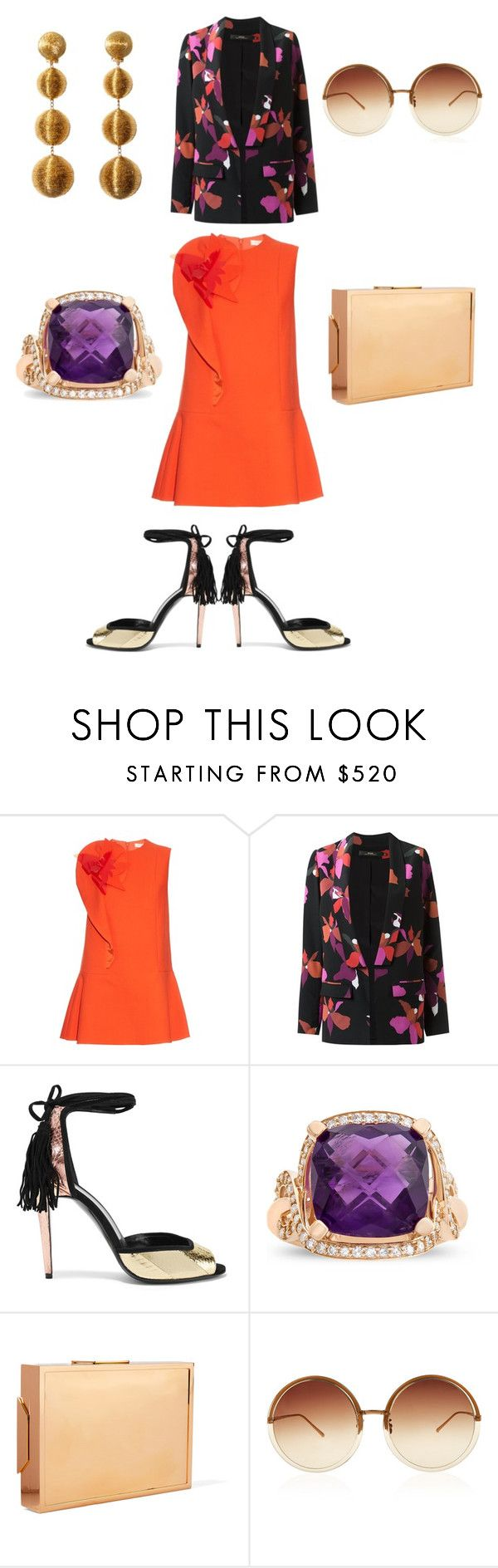 """Center of Attention"" by sade-aladejana-lewis on Polyvore featuring Delpozo, Andrea Marques, Rebecca de Ravenel, Pierre Hardy, Lee Savage, Linda Farrow, WorkWear, outfit and polyvorefashion"