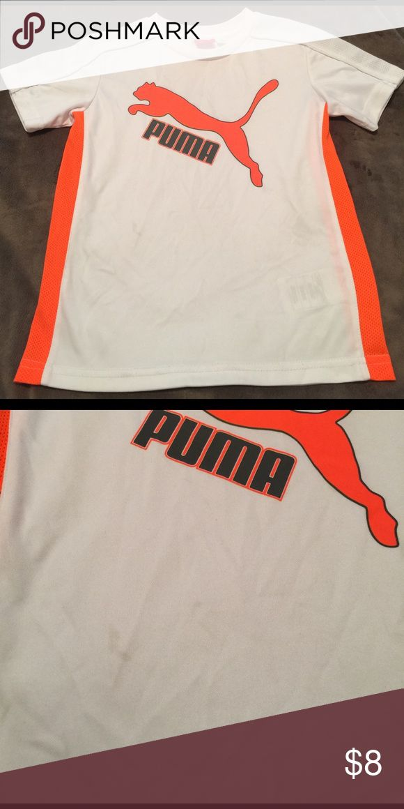 Boys Puma Shirt Good condition. Small stain that can probably be removed with spot cleaning! Dri fit like material. Puma Shirts & Tops Tees - Short Sleeve