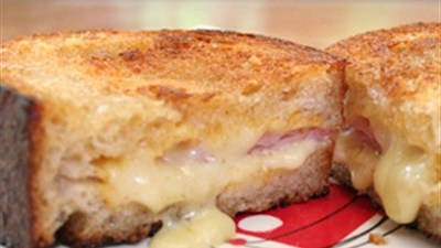 Croque Monsieur with creme fraiche