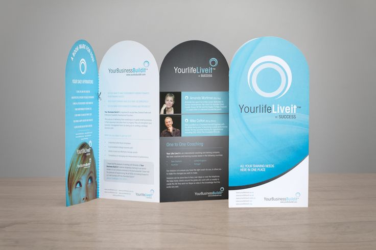 Your Life Live It brochure design concept with top edge did cut