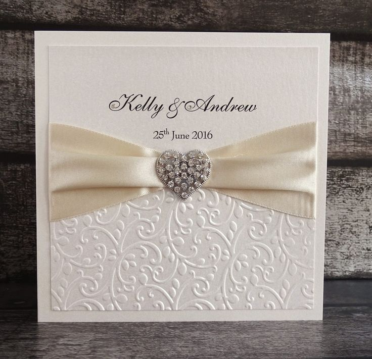 tie ribbon wedding invitation%0A Diamant   heart and satin ribbon  Wedding StationeryWedding  InvitationsInvitesSatin