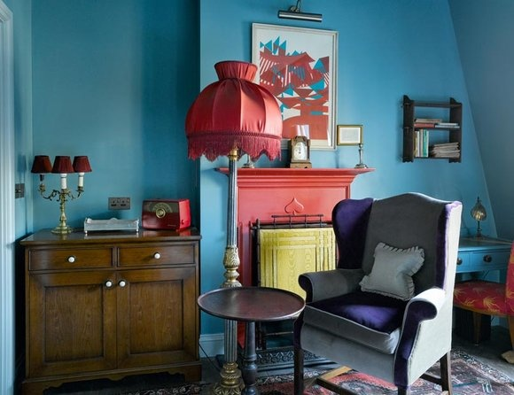 The Zetter Townhouse, London: Spaces, Colour Interiors, Living Rooms, Zetter Townhouse, Boutiques Hotels, London, Blue Wall, Blue Green, Wall Color