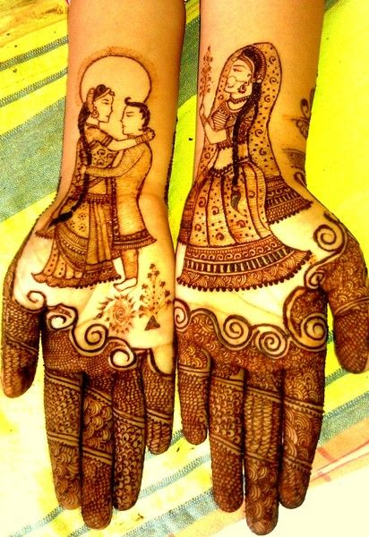 Bridal henna or mehndi. #IndianBridalFashion