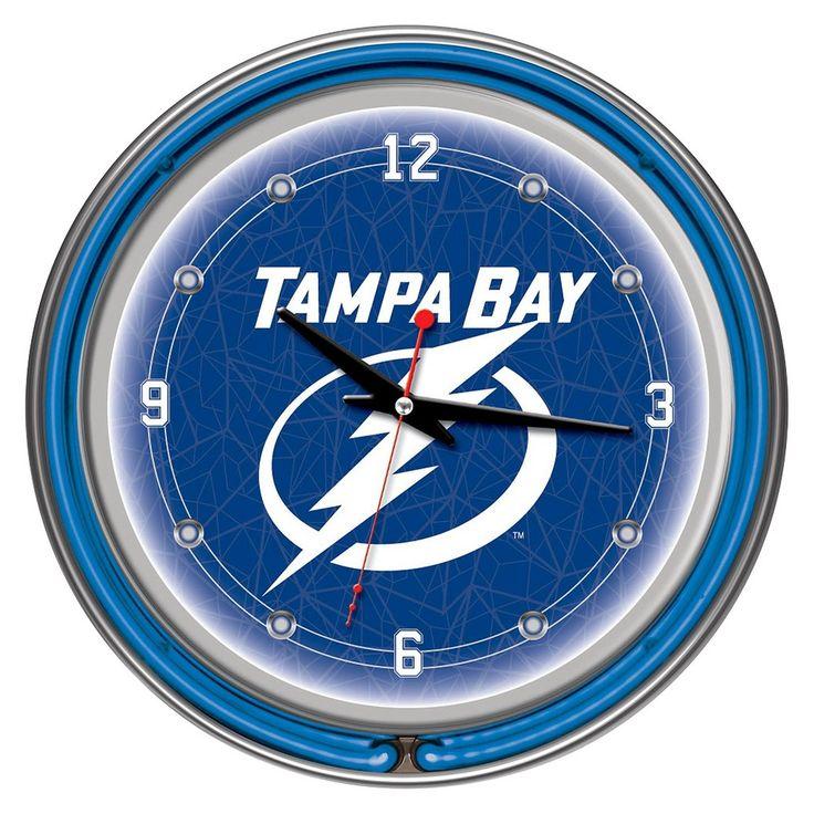 Tampa Bay Lightning Neon Wall Clock
