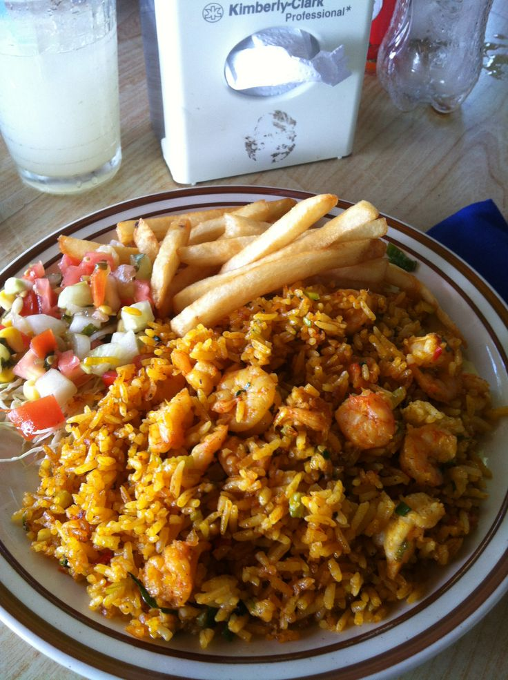 Rice and seafood from el jardin restaurant in san for Jardin foods