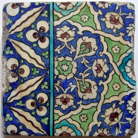 Damascus pottery tile, Syria.