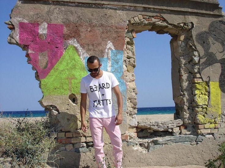 Me Unique Beard + Tatts man white t-shirt available on www.meunique.com