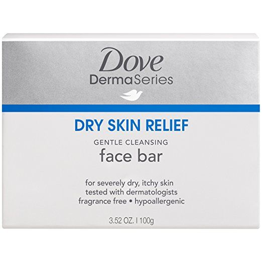Dove DermaSeries Fragrance-Free Facial Cleansing Bar, for Dry Skin