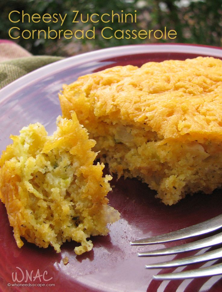 Cheesy Zucchini Cornbread Casserole a wonderful sidedish loaded with flavor! Perfect for holiday meals!
