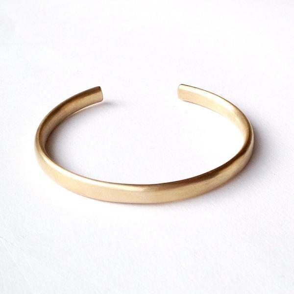 Oval Gold Open Cuff Bracelet By Michele Wyckoff Smith Gold Bracelet Cuff Gold Cuffs Silver Cuff Bangle