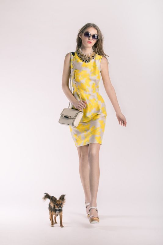 Dress Tara Jarmon, 8590 CZK Necklace Appartement à louer, 8790 CZK Glasses Victoria Beckham, 11 890 CZK Handbag Diane von Fürstenberg, 9390 CZK Shoes Mellow Yellow, 4790 CZK
