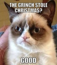 #GrumpyCat #ChristmasMeme For more Grumpy Cat stuff, gifts, quotes and meme visit www.pinterest.com/erikakaisersot
