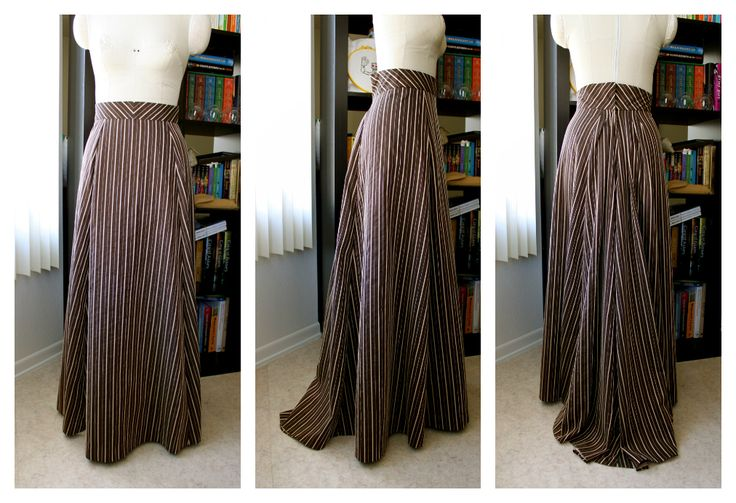 Cation Designs: It's Curtains for Me! Free sewing pattern for this victorian (slight bustle) trained skirt.