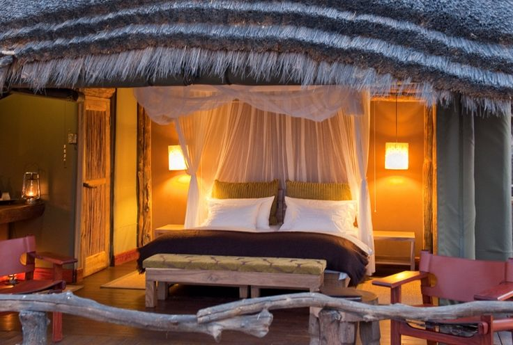 The Camp is built on wooden stilts amongst the tree tops with full views over one of the most beautiful watering holes on Onguma Game Reserve.