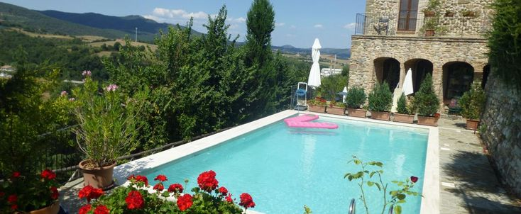 L'Antica Vetreria: This meticulously renovated ancient glass factory boasts astonishing views, a storied history, a central location, walking distance to fabulous dining out, and (very unusual within the walls of a village) a pool! Plus charming and gracious hosts.