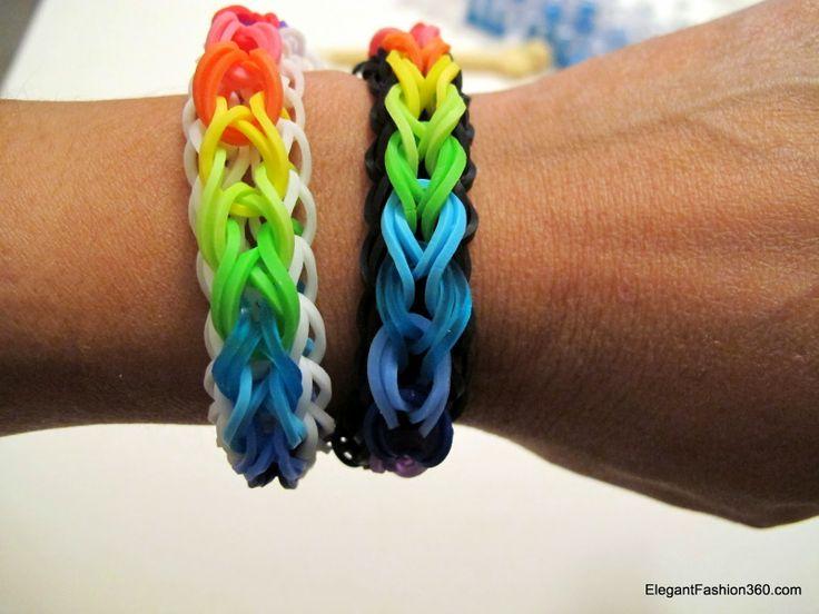 Rainbow Loom Patterns: Raindrop Rainbow Loom Pattern, with youtube tutorial. http://rainbowloompatterns.blogspot.com/