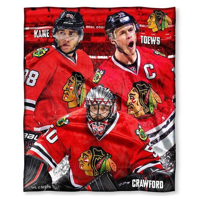 Chicago Blackhawks Team Collage Throw Blanket