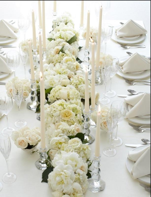 Table Flowers Wedding Centerpieces Bouquets Long Tables Vera