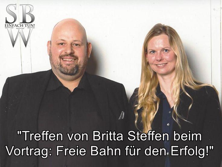 Treffen von Britta Steffen beim Vortrag: Freie Bahn für den Erfolg!