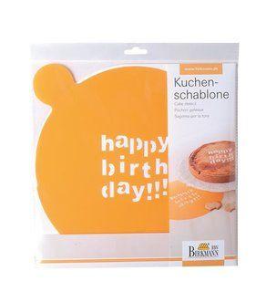 Kuchen- und Dekorschablone Happy Birthday von Birkmann