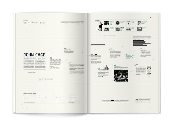 John Cage - Editorial by Sebastián Angresano, via Behance