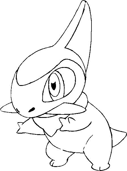 Coloring Pages Pokemon Drawing Axew Printable