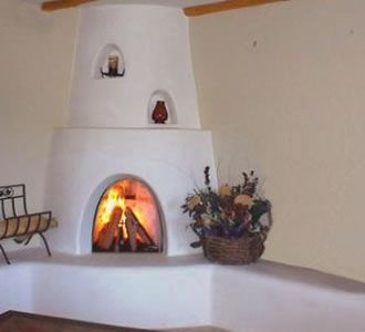 corner kiva fireplace designs - Bing Images