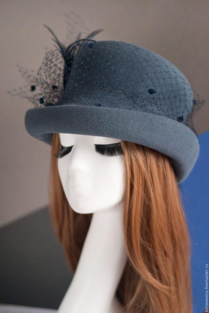"""Купить """"Леди Грей"""" - серый, шляпа, цилиндр, женская шляпа, женская одежда, стильный подарок"""