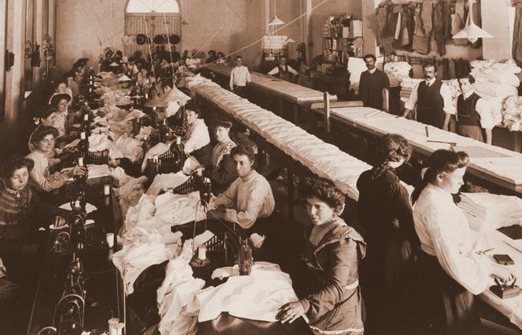 This is a picture of women working in a factory circa 1890. The conditions in these factories were often hot, dangerous and inadequate, with substandard facilities. One of the areas in which suffragists worked for change was in improving working conditions for women, and creating women's trade unions. State Library of South Australia B 72444