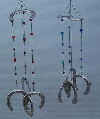Horseshoes wind chimes