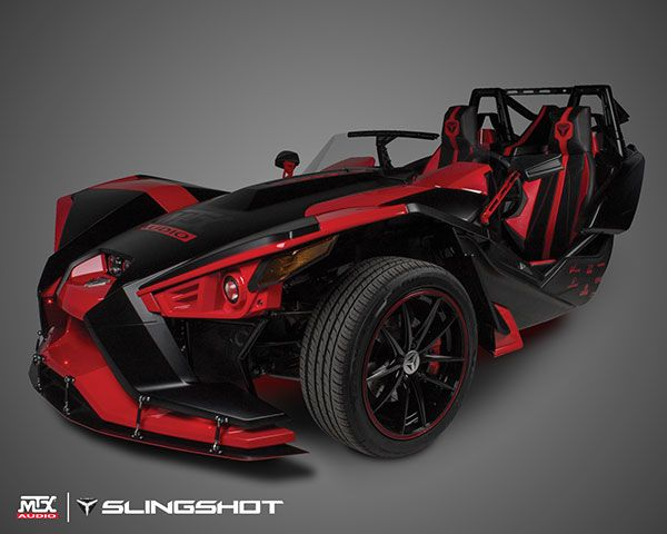 Mtxslingshot mtx audio 39 s custom polaris slingshot debuted for Mercedes benz slingshot