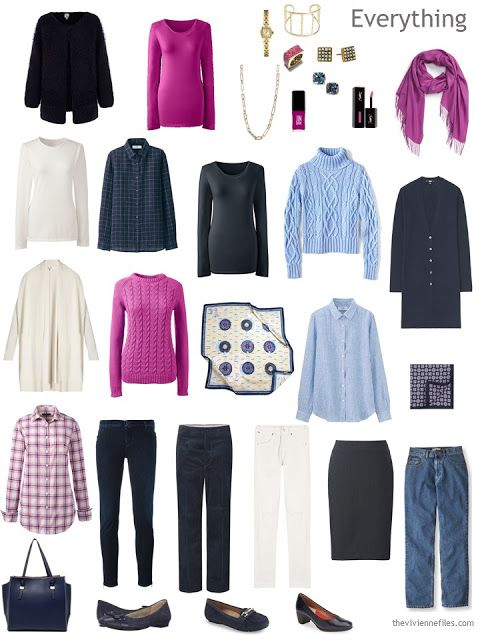 A Capsule Wardrobe in Navy, Sizzling Pink and Ivory: Increasing Your Equipment