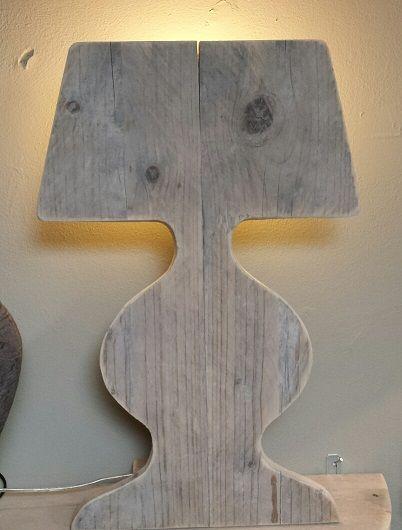 Steigerhouten lamp ...