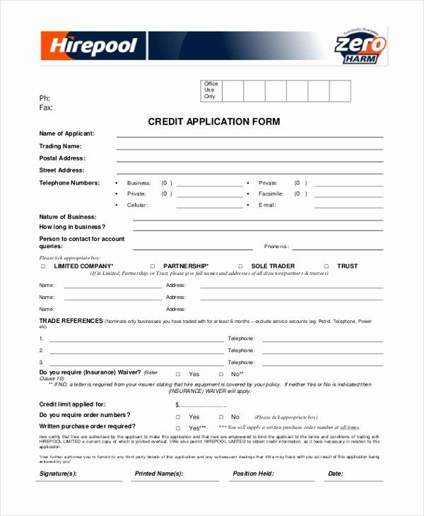 40 Credit Application Form Pdf In 2020 Application Form Credit Applications Job Application Template
