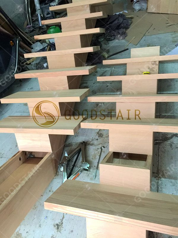 Real shot map of the production workshop  The solid wood staircase