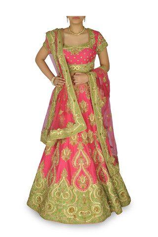 Pink color bridal lehenga – Panache Haute Couture