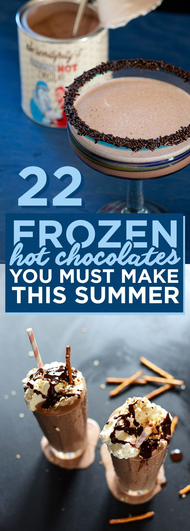 Making hot chocolate for a crowd - 22 Frozen Hot Chocolate You Must Make This Summer