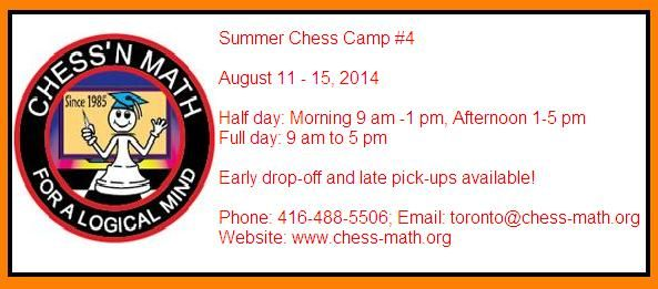 Summer is ending very soon. Don't miss this chance to join our Summer chess camp!!